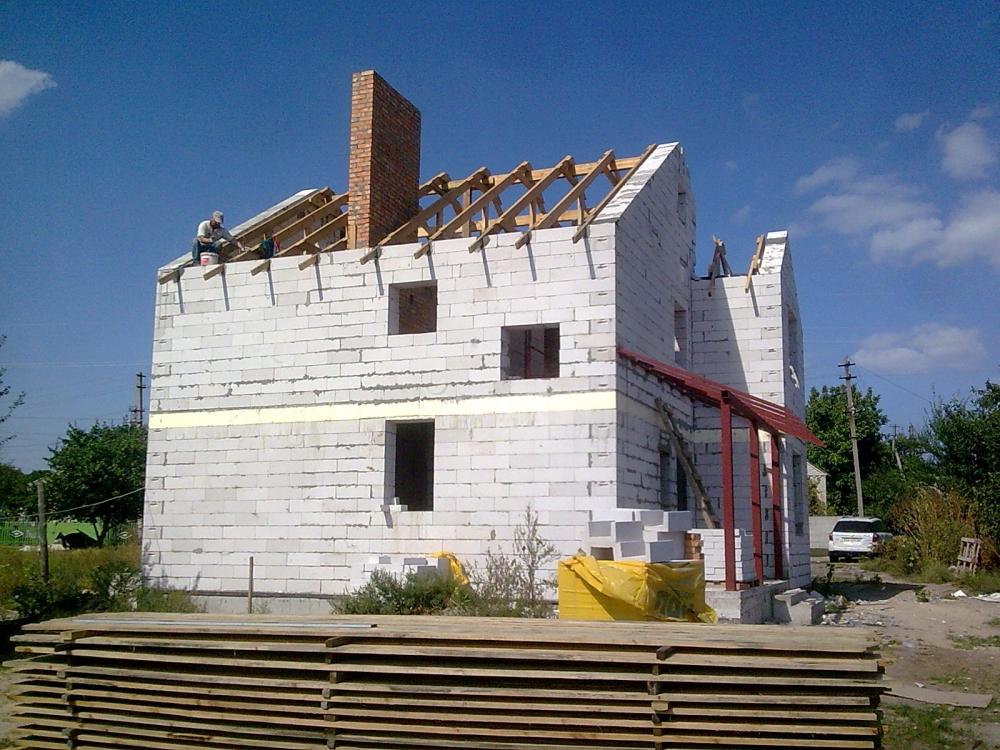 построить коробку дома из пеноблоков