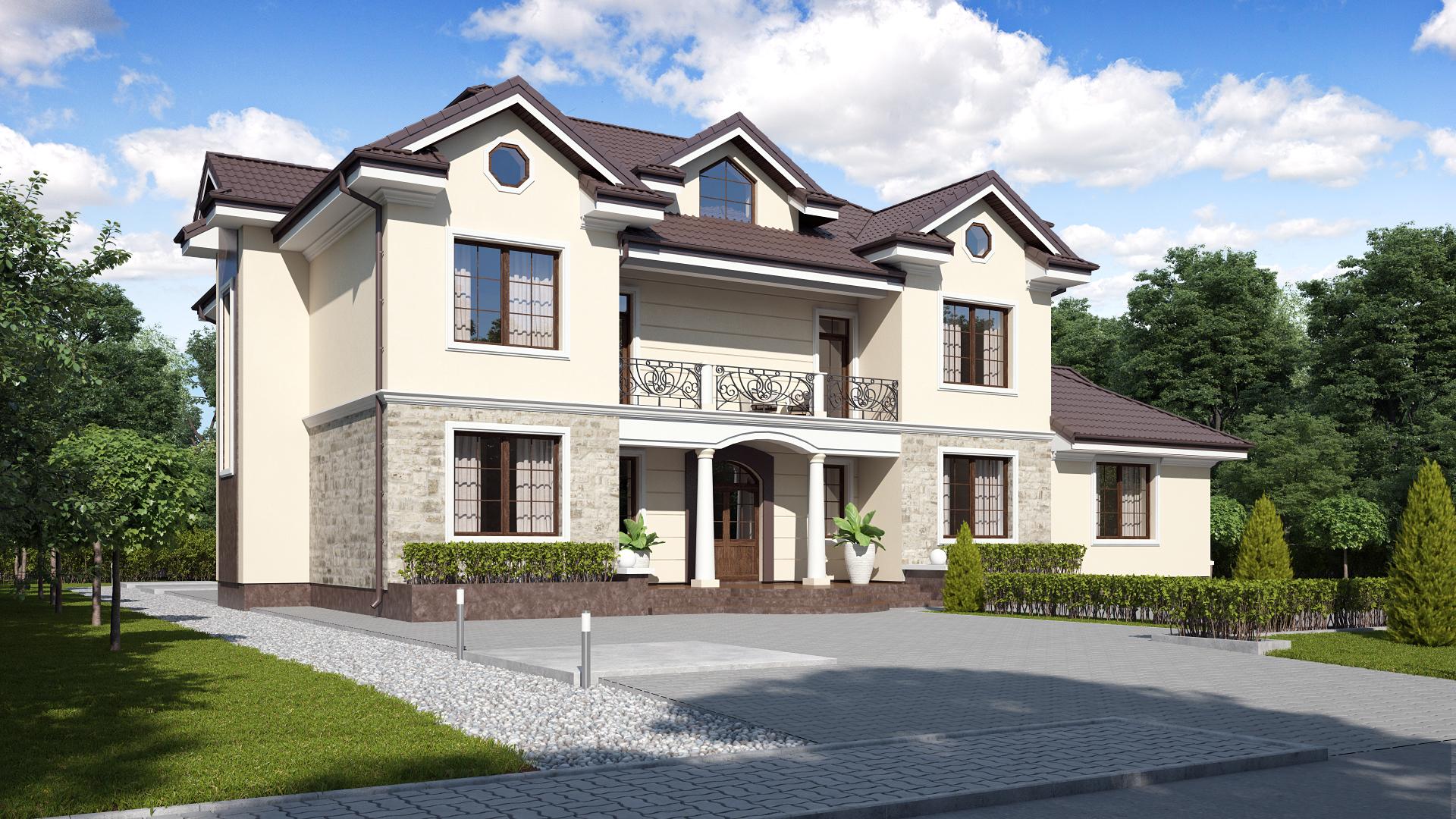 2a0f50bbf14 У даному розділі представлені готові проекти будинків. Чи хочете Ви  одноповерховий будинок або двоповерховий котедж з гаражем на два  автомобіля, ...